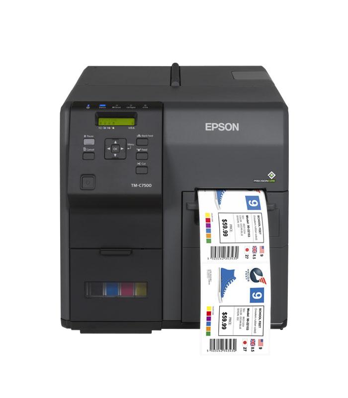 Epson С7500G помага на производителите да печатат висококачествени етикети, на работното си място, в момента на възникване на нуждата от етикети.