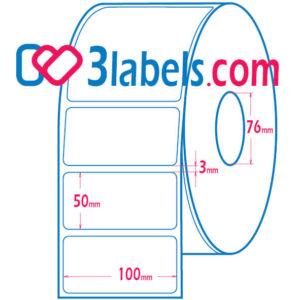 3labels matt paper inkjet labels 100×50 mm, 1000 pcs