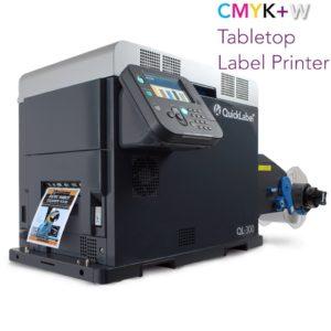 CMYK + WHITE Toner-Based Digital Label Printer QuickLabel