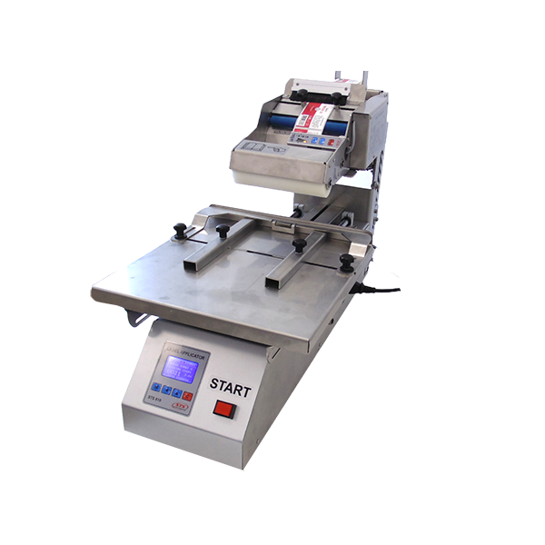 Labeling machine for flat containers - STS810 is designed for different types of plastic or glass containers with soft or hard walls.