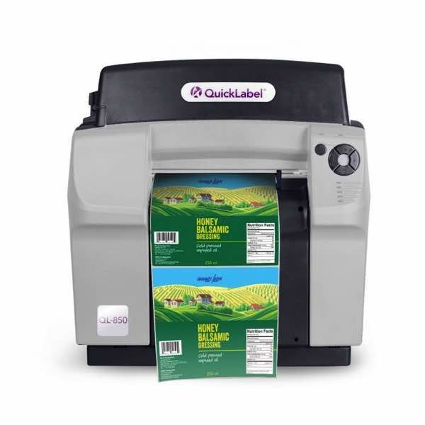 The QL-850 is a high productivity, tabletop, color, durable wide-format label printer designed with the most advanced inkjet technology yet.